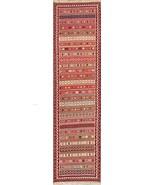 Rug Source One-of-A-Kind New Kilim Shiraz Tribal Hand-Woven 2x9 Wool Per... - $393.32