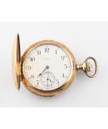 Antique Ornate Elgin 14k Solid Gold 17-Jewel Pocket Watch Size 12 Double... - $3,712.49