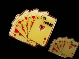 Vintage Blinking card deck tie tack / battery operated / gambler gift / ... - $75.00