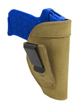 New Barsony Olive Drab Leather Tuckable IWB Holster 380 Ultra Comp 9mm P... - $32.99
