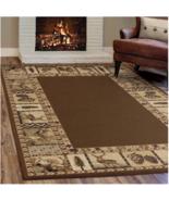 5x8 Lodge Area Rug Deer Bear Log Cabin Carpet W... - $154.97