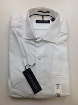 Tommy Hilfiger Men's LS Stetch Regular Fit Shirt, White, M 15-15.5 32/33 - $29.69
