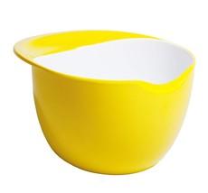 Fusionbrands CrackPot Melamine Mixing Bowl with Egg Cracking Edge, Yellow - $614,61 MXN
