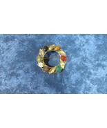 Vintage Mid Century K & L KORDES & LICHTENFELS Circle Brooch Scarab Stones - $11.29