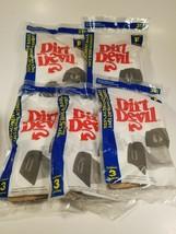 Lot of 5 Dirt Devil Type F #3-200147-001 & 3-200148-000 Vacuum Bags New - $19.75