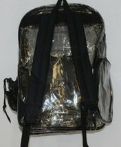 Unbranded Item Clear Netted Backpack Black Trim  Large Five Pockets image 4