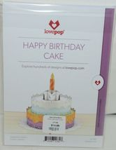 Lovepop LP1782 Happy Birthday Cake Pop Up Card White Envelope Cellophane Wrapped image 6