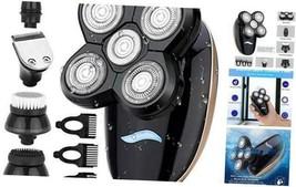 Electric Razor, Men's 5-in-1 USB Rechargeable Shaver Waterproof 5D Rotar... - $43.11