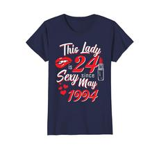 Funny Shirts - Vintage May 1994 24th Birthday Gift 24 yrs This Lady Awesome Wowe image 4