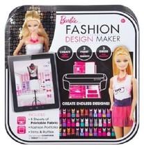 Mattel Barbie Fashion Design Maker Create Print Dress Brand New - $24.99