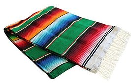 Sarape Mexican Serape Saltillo Blanket (X-large, Green) Heavy Authentic ... - $33.09 CAD