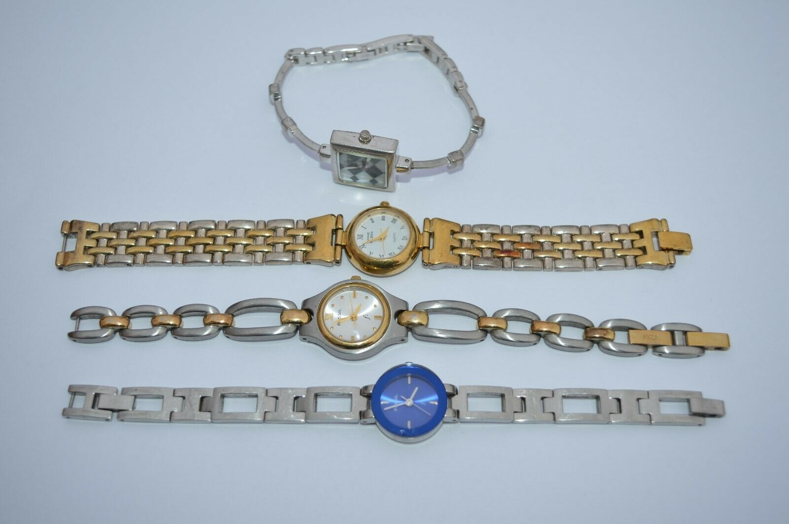 Primary image for 4 VTG. Watches'' 2 FOSSIL***2 ANN KLIEN*** All are running good, 1 unique''