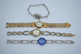 4 VTG. Watches'' 2 FOSSIL***2 ANN KLIEN*** All are running good, 1 unique'' - $28.01