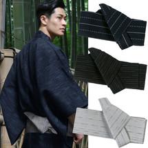 Japanese Mens Kimono Yukata Stiff Kaku Obi Belt Easy Kai No Kuchi Musubi - $13.99