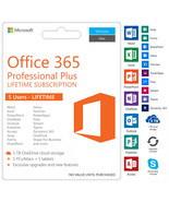 Microsoft Office 365 Lifetime Account Subscription For 5 devices/5TB Ins... - $9.99