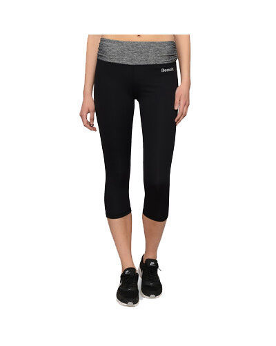 Bench Womens Black with Heather Gray Rajak Capri Yoga Fitness Pants BLNF0049