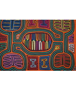 Kuna Geometric Abstract Art Mola Hand Stitched Applique Maracas Rattle m... - $66.49