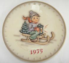 Goebel Hummel 5th Annual Plate Ride Into Christmas 1975 HUM268 w Box - $9.89