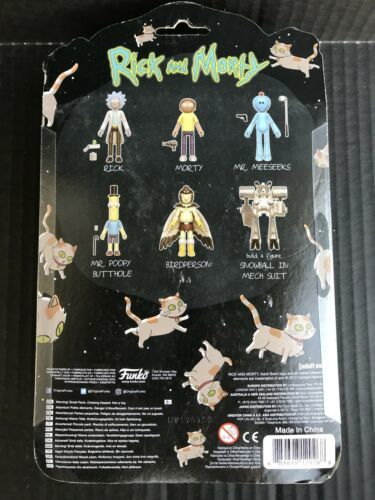 Rick and Morty Mr Poopy Butthole 5-Inch Action Figure W/Snowball NEW -A1