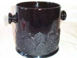 Fenton Ebony/Black Milk Gls Macaroon/Big Cookies Jar - $15.00