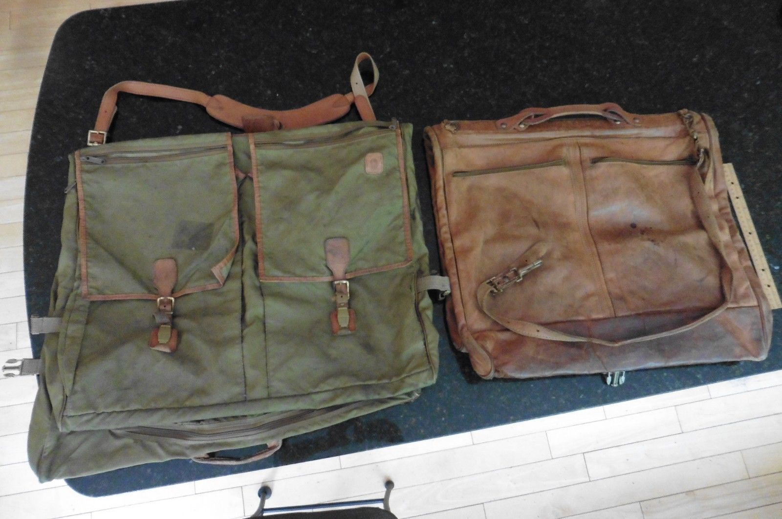 a94616765262 57. 57. Previous. 2 Vintage Hartmann Belting Nylon   Leather Garment  Luggage Travel Suit bags