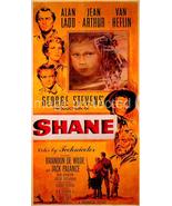Shane Vintage Alan Ladd Jack Palance Movie Poster  24X36  western gunfight - $24.99