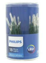 Philips 18ct Christmas LED Micro String Fairy Lights Battery Operated Warm White image 1