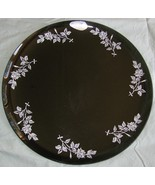 """2 Imperial Glass 11"""" Charcoal Smoke Glass Plates/Chargers w/ - $8.00"""