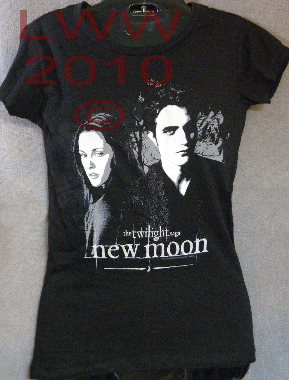 Large Black Bella & Edward Twilight New Moon Shirt NEW Bella