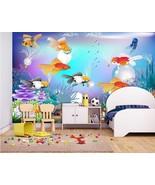 3D Cartoon Ocean Fish Aquatic Wall Paper Wall Print Decal Wall Deco AJ W... - $37.39+