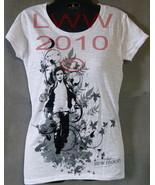 X-Large Junior's White Edward Kicking Leaves Twilight New Moon Shirt NEW - $6.95