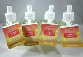 4 Orange Ginger Aromatherapy Energy Bath & Body Works Wallflower Refill ... - $49.99