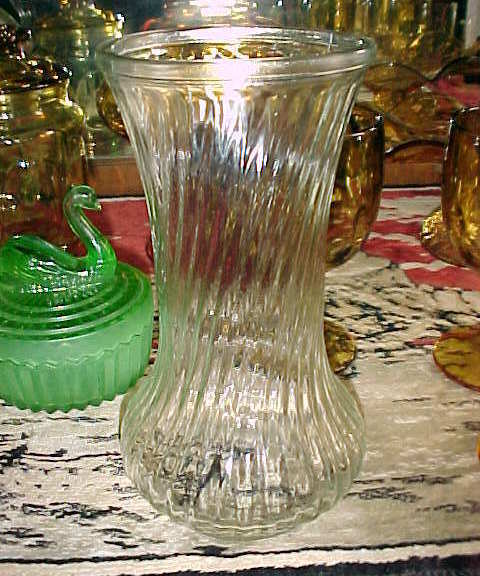 Hoosier Glass Vase Clear Swirl And 24 Similar Items