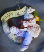 Home Interiors Easter Bunny Spring Wreath NEW - $9.99