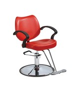 Classic Red Hydraulic Barber Chair Styling Salon Beauty Brand New in the... - $119.88