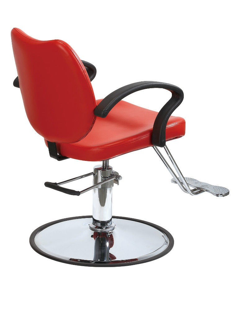 Classic red hydraulic barber chair styling salon beauty for Hydraulic chairs beauty salon