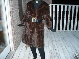 Mahogany hue Mink Full Length Fur Jacket Coat - $841.49