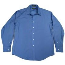 Croft & Barrow Size 16 Wrinkle Resistant Broadcloth Long Sleeve Dress Shirt - $13.85