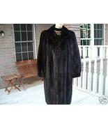 Mint full length Black brown Mink Fur coat jacket - $1,286.99