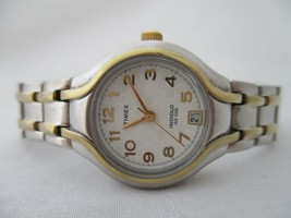 Timex Indiglo Women's Silver Toned Water Resistant 50M Watch Stainless S... - $109.00