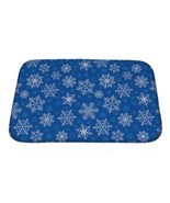 Bath Mat, Pattern With New Years Snowflakes - $29.95+