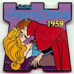 Disney Sleeping Beauty & Prince dated 1959 pin/pins