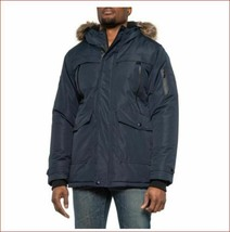 new POINT ZERO men jacket coat parka vegan 7358233/SIE black sz XL - $94.44