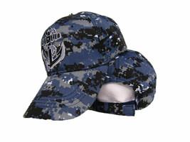 US Navy Seal Anchor Hat Shadow Blue Acu Desert Digital Marpat Camo Cap - $21.77