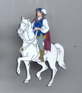 Disney Snow White Prince with horse Pin/Pins Pins