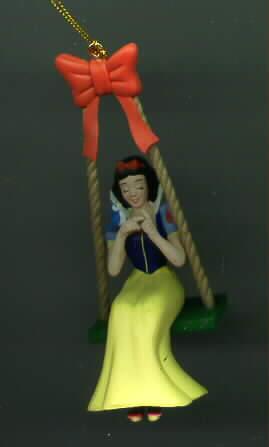 Disney Snow White Swinging It in Mint Figurine Ornament