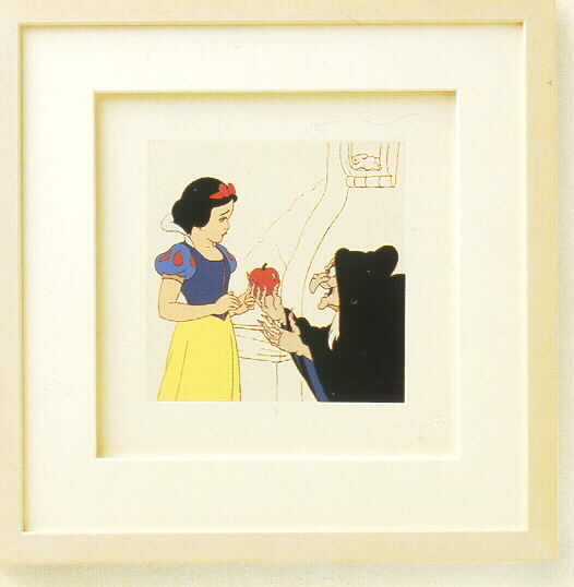 Disney  Snow White with Witch with Apple  Framed  Art