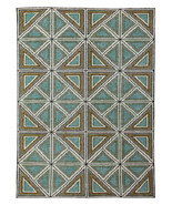 """5.7""""x7.10"""" Geometrical Optical Low Pile Handknotted 100% Woolen Rugs & C... - $345.51"""
