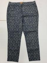 Ellen Tracy Size 16 Navy Blue and Silver Patterend Pants  - $16.34
