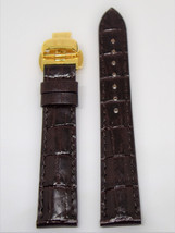Original Tissot Vintage Lady Brown Leather Band Strap w/ Gold Buckle For... - $165.00
